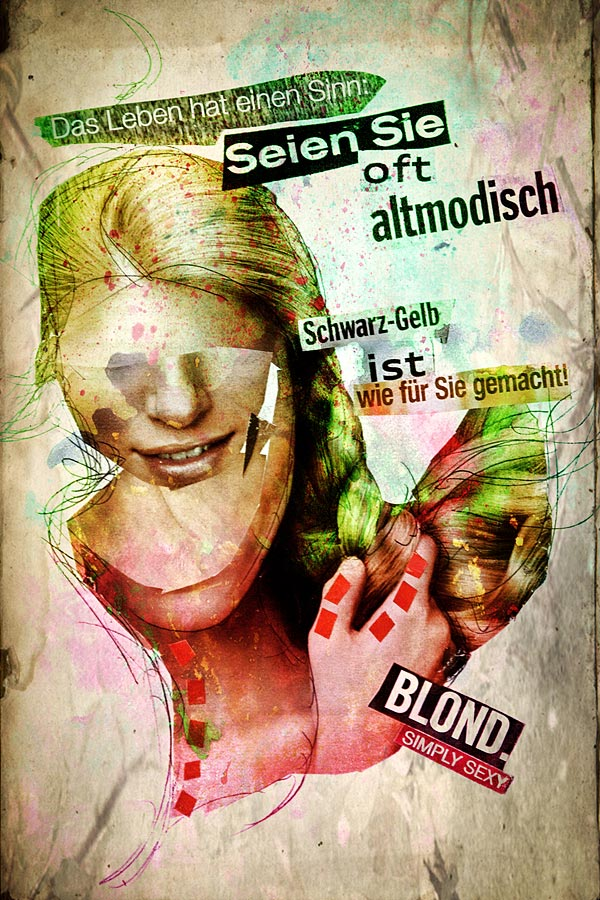 Eine abstrakte Dada-Collage